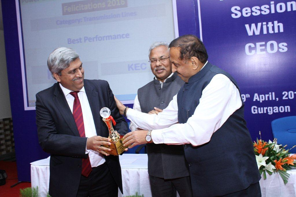 For the third consecutive year, PGCIL appreciated KEC's work by conferring three of its most coveted awards to KEC.